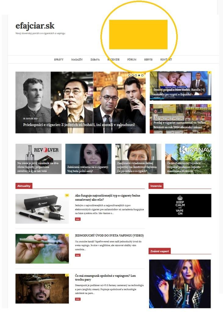 Banner v záhlaví stránky: Zobrazuje sa na hlavnej stránke portálu (ukážka) aj každej ďalšej stránke portálu.