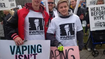 Vaping-protesty